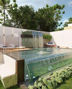 Backyard Pool Designs, Small Backyard Pools, Small Pools, Swimming Pools Backyard, Swimming Pool Designs, Outdoor Pool, Small Pool Design, Pond Design, Piscina Hotel