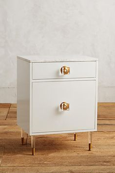 Lacquered Regency Bath Cabinet, Small - anthropologie.com