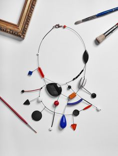 Lora Nikolova, jewelry as art and creativity, expression of a vision introspective and abstract innovative design entirely made in Italy. Urban Jewelry, Jewelry Art, Beaded Jewelry, Beaded Necklace, Jewelry Design, Fashion Jewelry, Silver Earrings, Jewelry Accessories, Engagement Ring Jewelers