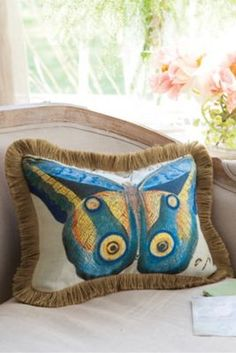 Mariposa Fringed Pillow from Soft Surroundings