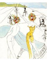 """Flower Women with Soft Piano"" by Salvador Dali (1963)"