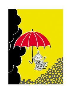 Muumi juliste Pikku Myy ja sateenvarjo, 24x30cm