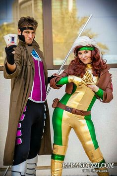 Gambit and Rogue cosplay - X-Men  sc 1 st  Pinterest & 12 best GAMBIT u0026 ROGUE COSPLAY images on Pinterest | Rogue cosplay ...