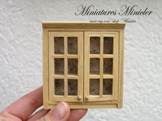 1:12 scale // Miniature Dollhouse Wooden Wall Cabinet Shabby Chic by Minicler, €14.00