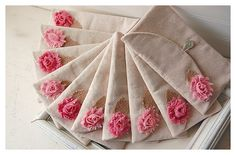 Set of Four  4 Bridesmaid Gift Set Bridesmaid Clutch by hoganfe, $76.00