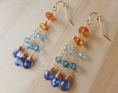 Hey, I found this really awesome Etsy listing at https://www.etsy.com/listing/476745914/colorful-gemstone-earrings-blue-yellow
