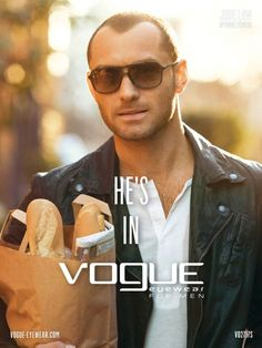 Jude Law is in Vogue Eyewear for Men: Spring-Summer 2012 Campaign