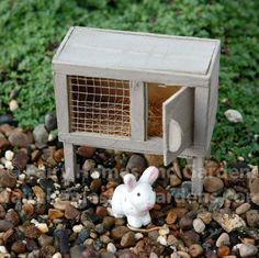 Fairy Homes and Gardens - Bunny Hutch with Bunny, $9.99 (http://www.fairyhomesandgardens.com/bunny-hutch-with-bunny/)