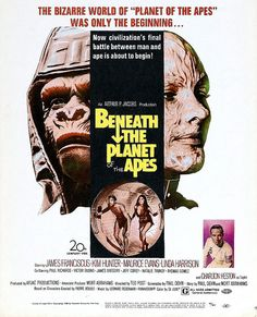 Beneath The Planet of the Apes (1970) - The sole survivor of an interplanetary rescue mission searches for the only survivor of the previous expedition. He discovers a planet ruled by apes and an underground city run by telekinetic humans.