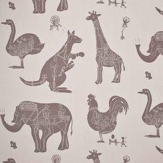 Direct Online Stone Brown Machine Animal Wallpaper for Children | How It Works | PaperBoy Kids Bedroom Wallpaper