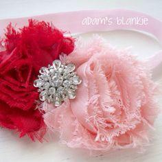 Pretty headband for valentines day!!