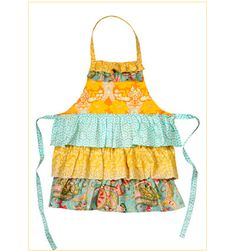 colorful apron with ruffles