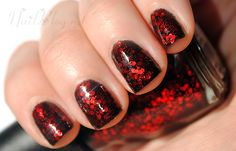 Ants In My Pants Nail Polish - it's like a red facets of fushia! a varnish after my own heart!