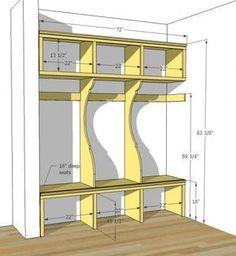 PINTREREST GARAGE MUDROOM | DIY Mudroom Lockers {Garage Mudroom Makeover} - East Coast Creative ...
