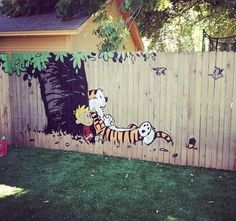 Calvin and Hobbes Fence Painting