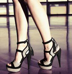 rachel zoe. black tassel platform heel.  spring 2012 collection. UM, get in my closet right now!