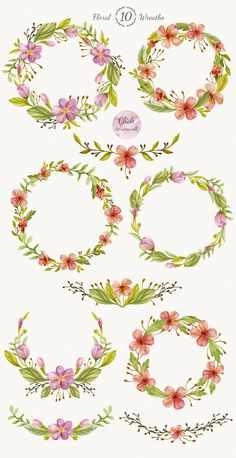 Watercolor Floral DIY Pack by NataliVA on Creative Market