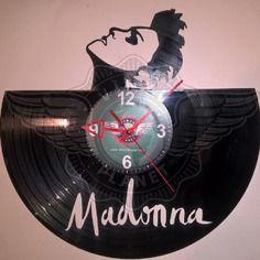 Horloge vinyle décoration madonna