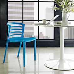 Contour Blue Dining Chair | Modern Dining | Color Pop | Eurway