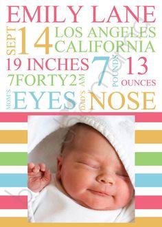 baby & birth announcement