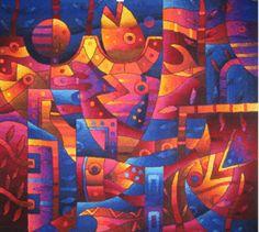 MaximoLaura, Peru. Contemporary Art Tapestry.