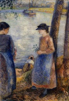 By the Water, 1881 - Camille Pissarro