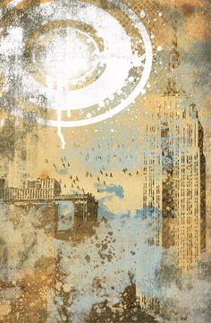Texture City Art Print