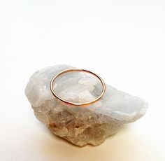 Halo ring 14K solid rose gold by TinyArmour on Etsy, $69.00