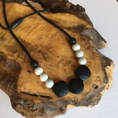Chewable Silicone Teething Necklace -- The Julia; babywearing necklace, chewelry, chewlery, teething jewlery, teething jewelry by ChickadeeChewelry on Etsy