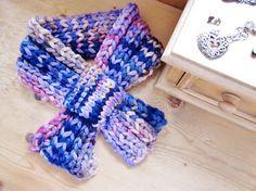 Short scarf by OnePurlRow  #scarf #fashion #fashionuk
