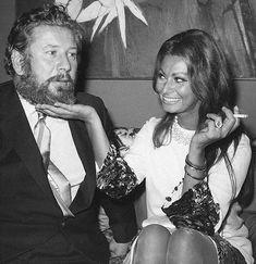 "cinemamonamour: "" Peter Ustinov and Sophia Loren, New York 1966 """