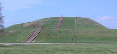 illinois indian mounds | Above: Monk's Mound, Collinsville, Illinois is the biggest purpose ...