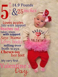 Such a great idea for a photo shoot with baby on Valentine's Day!