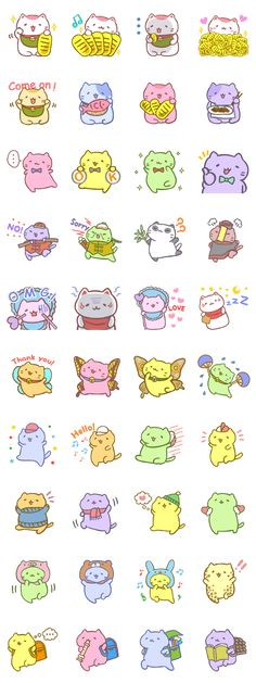 """MANEKINEKO""Cute cat sticker.  Characters of the game app ""Mitchiri Neko Mix2""."