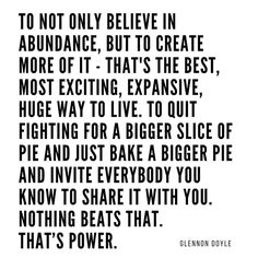 Scarcity is a lie. Believe & achieve abundance Say Say Say, Only Believe, Just Bake, Mindful Living, Knowing God, Jealousy, Cool Words, Abundance, Life Lessons