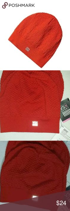 VS Beanie Hat VSX Sport Seamless Knit Cap Red NEW Victoria's Secret Beanie Hat VSX Sport Seamless Knit Cap Red NEW Warm, breathable and made to move, this sport beanie keeps the cold out while wicking moisture away. Brand New with tags attached  Seamless comfort design, Easy fit and lightweight Nylon microfiber & spandex fabric for ultimate stretch Anti-microbial, Anti-odor technology Body-Wick keeps you cool & dry Nylon 65% Wool 33% Elastane 2% Size: OS.  Color: red Material: Knit. Machine…