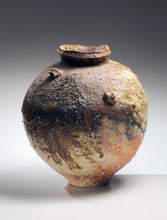 Tsujimura Shiro, Japanese stoneware with natural ash glaze, Japanese shigaraki…
