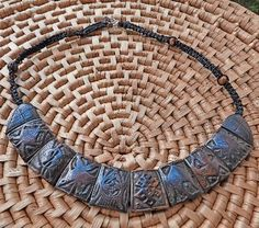 Buffalo Bone Auspicious Necklace handmade in Nepal $19.99