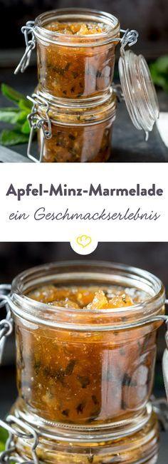 Wenn sich die Süße der Äpfel mit der Frische der Minze in einer Marmelade vereint, dann kann das nur ein wahres Geschmackserlebnis geben!