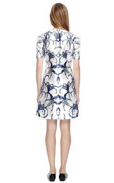 Sculpted Shoulder A-line Shift Dress by Prabal Gurung Now Available on Moda Operandi
