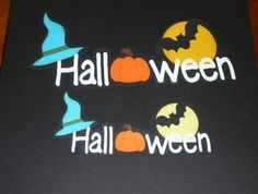 Halloween Scrap pages Titles