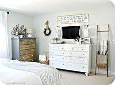 Wooooohoooo!!!! It is DONE, people. And we are thrilled! Been a long time coming, but finally I can tell you, our master bedroom makeover is complete andyou can't see me, but I'm totally doing a h...