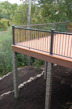 Pergola For Small Patio Rustic Pergola, Wooden Pergola, Diy Pergola, Pergola Kits, Pergola Cover, Pergola Ideas, Railing Ideas, Diy Deck, Patio Ideas