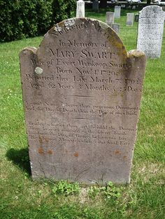 TOMBSTONE TUESDAY ~ Mary Cooper Swart–1729 to 1792–Albany New York #genealogy