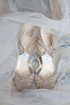 Wedding Shoes // Bridal Shoes // Elegant pair of Jimmy Choo shoes!