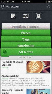 Notes  on Evernote