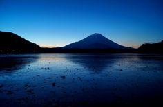 精進湖にて