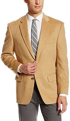 $199, Palm Beach Cotter Camel Hair Sport Coat. Sold by Amazon.com. Click for more info: https://lookastic.com/men/shop_items/282817/redirect