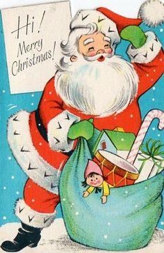 Unused Santa Christmas Card Z17 | eBay