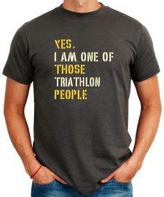 Yes I Am One Of Those Triathlon People Sports T-Shirt on Etsy, $16.00